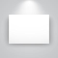 Wall Murals Dark grey Blank horizontal white canvas