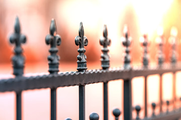 Wrought-iron fences, decorations