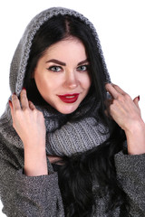 Young girl in a warm clothes