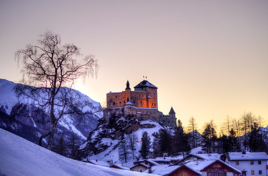 Tarasp castle in Switzerland
