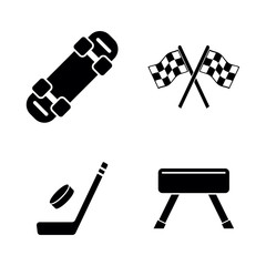 Activity Sport Games. Simple Related Vector Icons