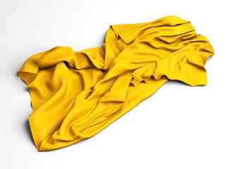 Gold silk elegance tablecloth. Trade show exhibition