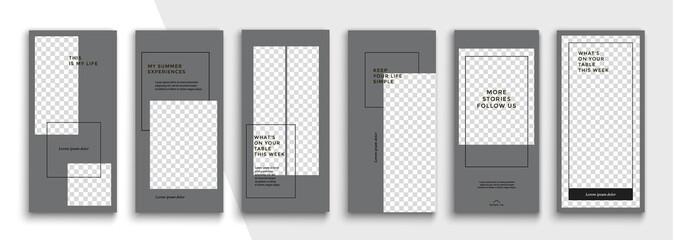 Trendy editable Instagram Stories template. Design  for social media.