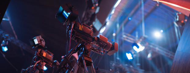 studio camera at the concert.