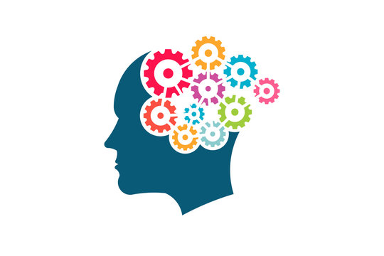 Group of Gears working connected. Creative Mind Concept