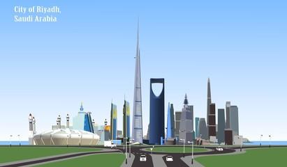 Vector City of Riyadh, Saudi Arabia