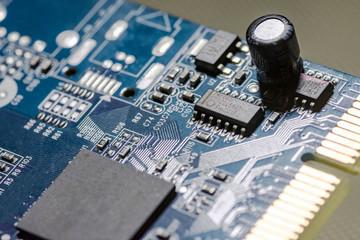 microchips on a board