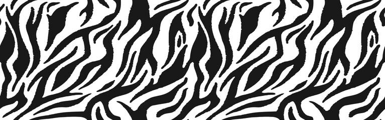 Zebra fur  - stripe skin, animal pattern. Repeating texture.