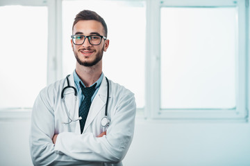 Portrait of Young Doctor on the Job