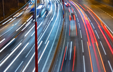 Fotomurales - busy highway traffic