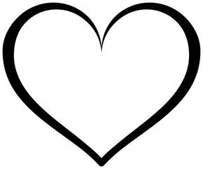 Simple heart outline icon. Vector love symbol.