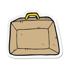 sticker of a cartoon budget briefcase