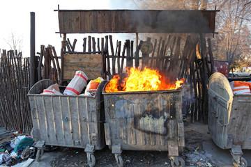 Fire Dumpster