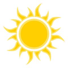flat sun icon symbol. Vector illustration for design
