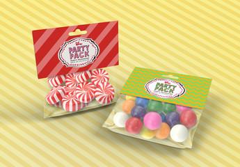 Candy Bag Packaging Mockup