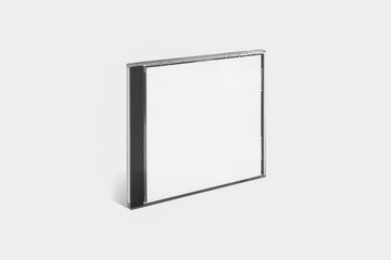 Blank CD Case Mock up Isolated on soft gray background.High resolution photo