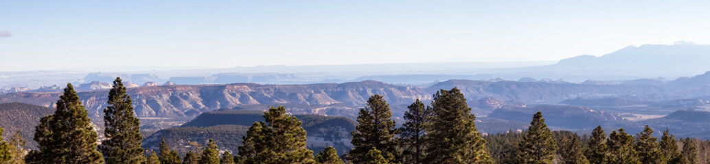 Beautiful Panoramic landscape during a sunny day. Taken in Utah, United States of America.