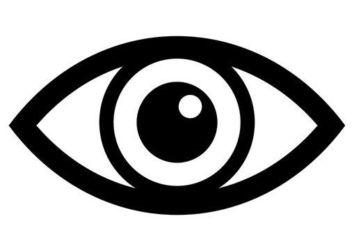 gz335 GrafikZeichnung - german - Auge: - english - eye: - simple template - DIN A4 - g7261