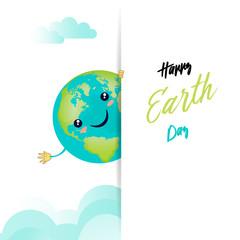 Happy earth day - kawaii style