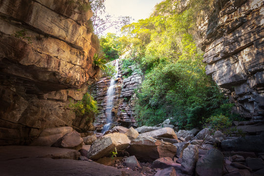 Mosquito Waterfall in Chapada Diamantina - Bahia, Brazil