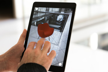 Augmented reality app - placing furniture in AR space