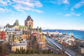 Fotomurales - View of Quebec City skyline with Chateau Frontenac - Quebec City, Quebec, Canada