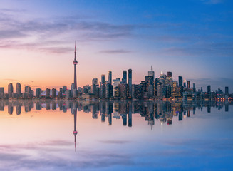 Foto op Plexiglas Toronto Toronto skyline at sunset