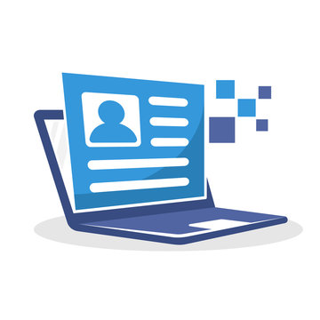 Vector illustration icon with the concept of online registration