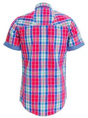 plaid shirt isolated on white background