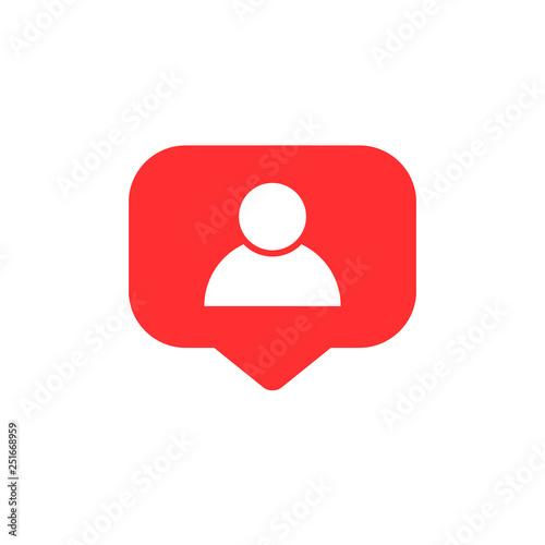 Follower notification  Social media icon user  User button, symbol