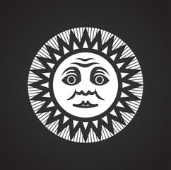 Sun icon on black background for graphic and web design, Modern simple vector sign. Internet concept. Trendy symbol for website design web button or mobile app