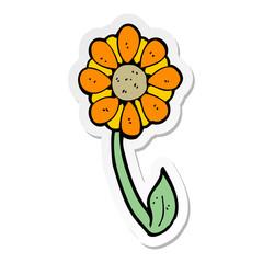 sticker of a cartoon flower