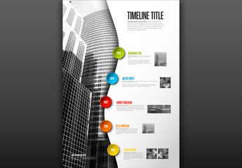 Colorful Timeline Buttons Infographic Layout
