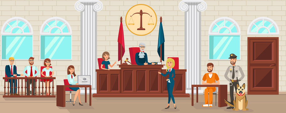 Vector Flat Lawyer Protects Accused is Witness.