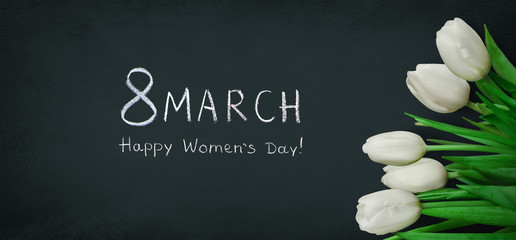 Wide Angle Holiday poster 8 March Happy Women's Day
