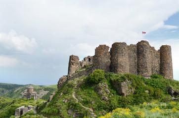 Amberd fortress ruins in Armenia Wall mural
