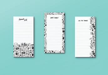Notepad Set Mockup