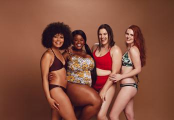 Diverse women in swimwear
