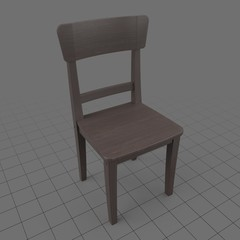 Wooden dining chair 1