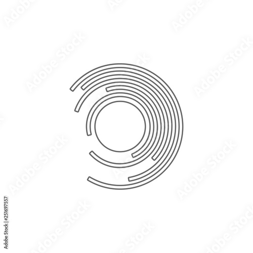 Circular Diatram Icon Simple Thin Line Outline Vector Of Charts