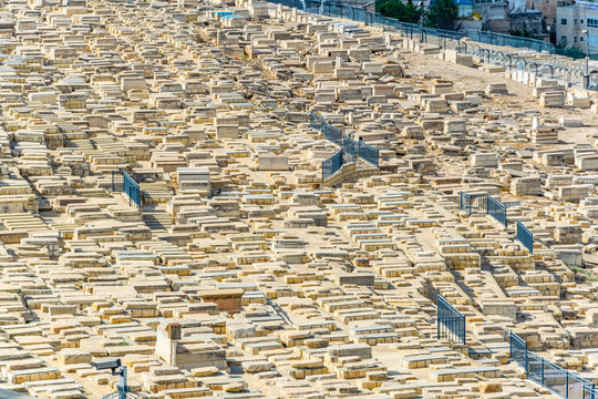 Tombs of the prophets situated on mount of olives in Jerusalem, Israel