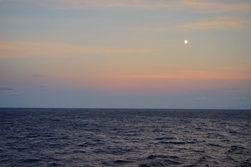Foto op Aluminium Koraal Caribbean sea ocean sun rise