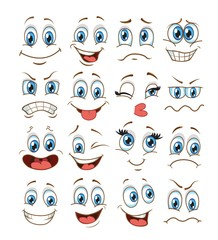 face expression set. vector illustration emoticon cartoon