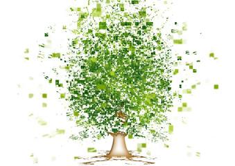 抽象的な木