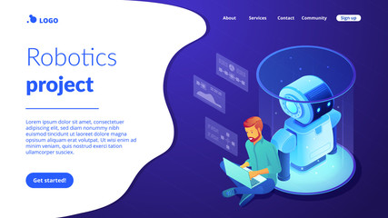Robot software isometric3D landing page.
