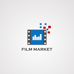 film market logo vector, icon, element, and template for company