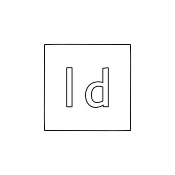 indesign, text icon. Simple thin line, outline vector of Text editor icons for UI and UX, website or mobile application