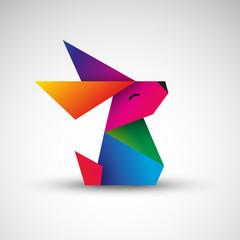 królik origami wektor
