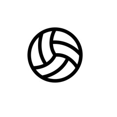 volley ball outline vector icon