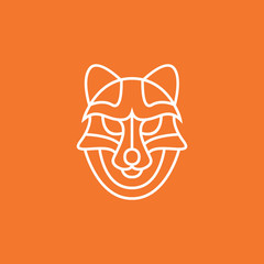 Luxury Line Wolf Logo Symbol Icon